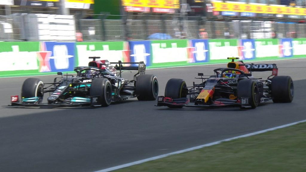 Gana Lewis Hamilton el GP de Portugal; 'Checo' Pérez queda en cuarto lugar - 'Checo' Pérez y Hamilton en GP de Portugal. Foto de @F1