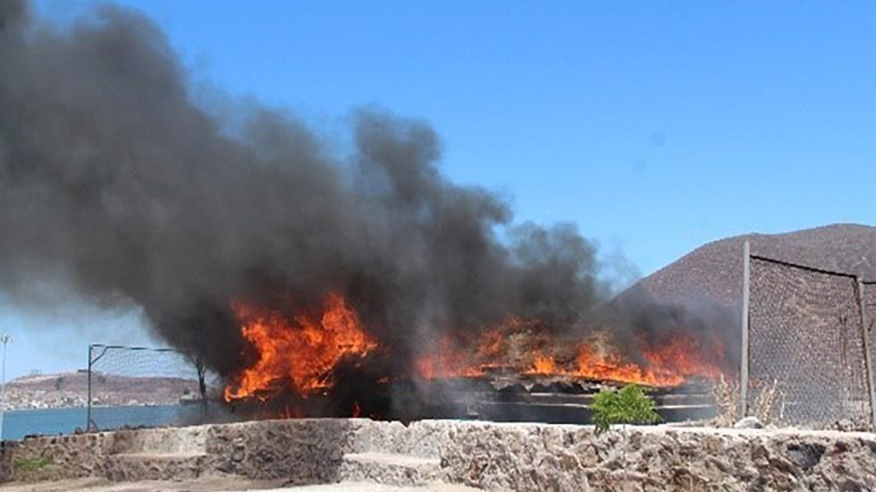 Destruye FGR casi 100 toneladas de drogas y precursores químicos - Incineración de droga. Foto de FGR