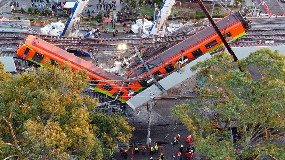 Línea 12 Metro Tezonco CDMX desplome