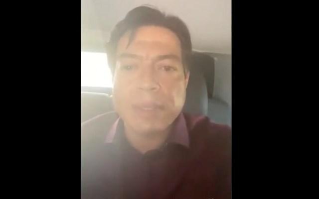 Denuncian que Mario Delgado fingió ser amenazado en Tamaulipas - Denuncian que Mario Delgado fingió ataque. Foto tomada de video