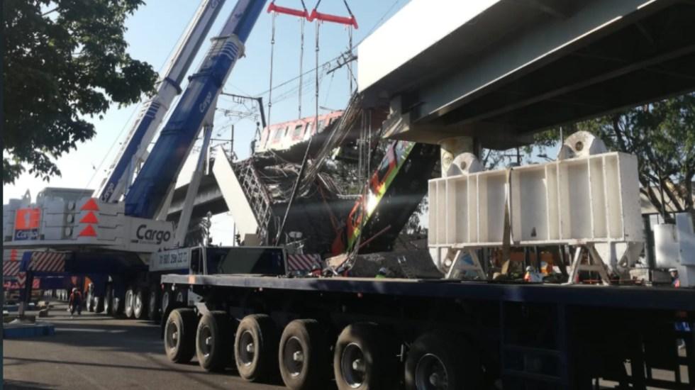 Retiran primer vagón de Metro colapsado en Línea 12 - Metro CDMX Linea 12 vagon retirado