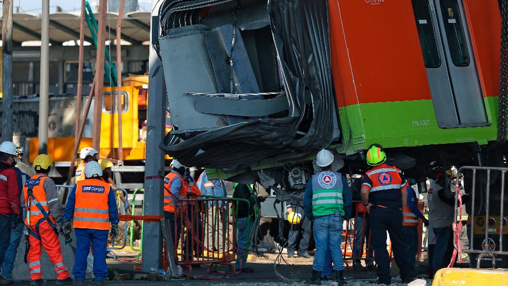 Metro Línea 12 vagón colapso Serranía