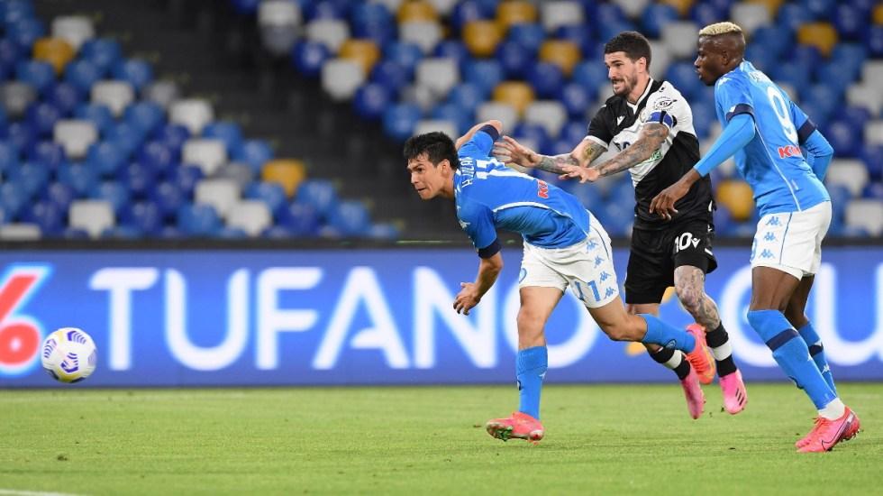 #Video 'Chucky' Lozano anota en goleada del Napoli contra Udinense - Chucky Napoli partido futbol