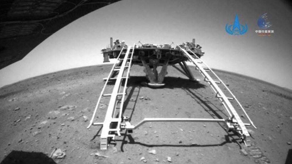 Primer rover enviado por China a Marte comienza exploración - Primer rover enviado por China a Marte comienza exploración. Foto de ANEC