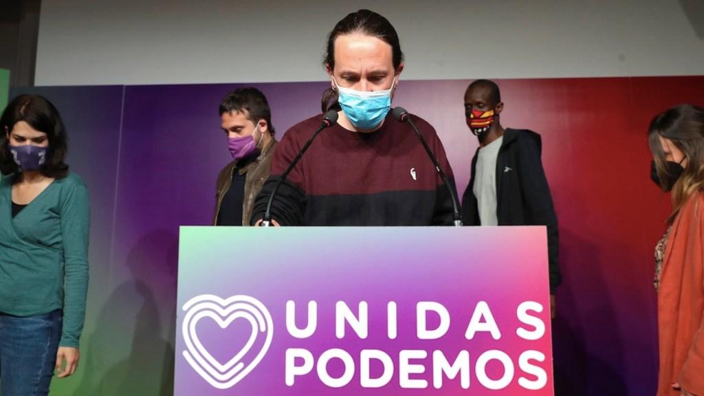 Pablo Iglesias dimite a cargos tras fracaso de la izquierda en Madrid. Foto de EFE