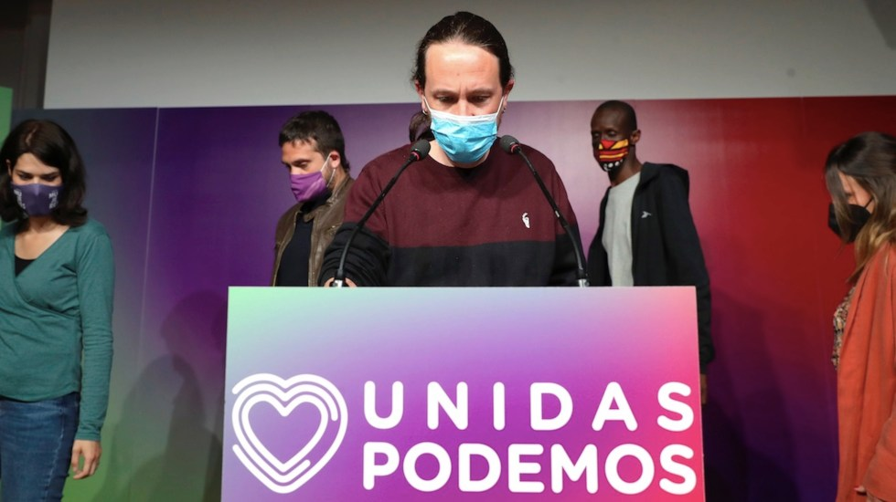 Pablo Iglesias dimite a cargos tras fracaso de la izquierda en Madrid - Pablo Iglesias dimite a cargos tras fracaso de la izquierda en Madrid. Foto de EFE