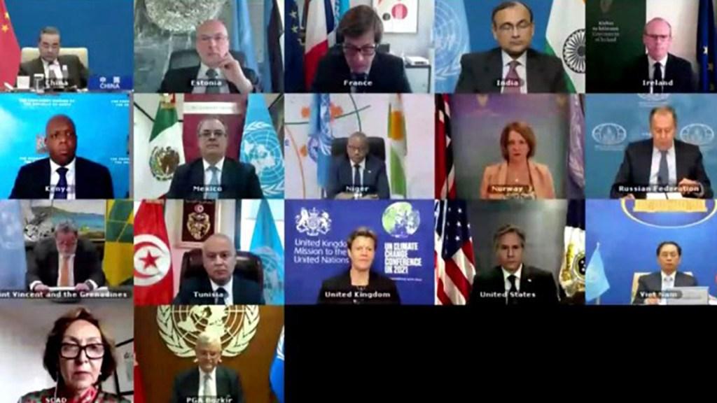 Ebrard defiende ante ONU que vacunas contra COVID-19 deben ser 'bien público' - Participación de Marcelo Ebrard en Consejo de Seguridad de la ONU. Foto de @MexOnu