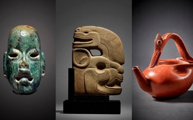INAH denuncia ante FGR subasta en EE.UU. de piezas arqueológicas mexicanas - Piezas mayas y olmecas que se subastarán en Nueva York. Foto de Sotheby's
