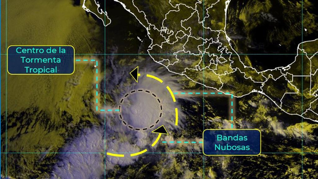 Se forma la tormenta tropical Andrés en el Pacífico; ocasionará lluvias en Michoacán, Colima y Jalisco - Tormenta tropical Andrés. Foto de SMN