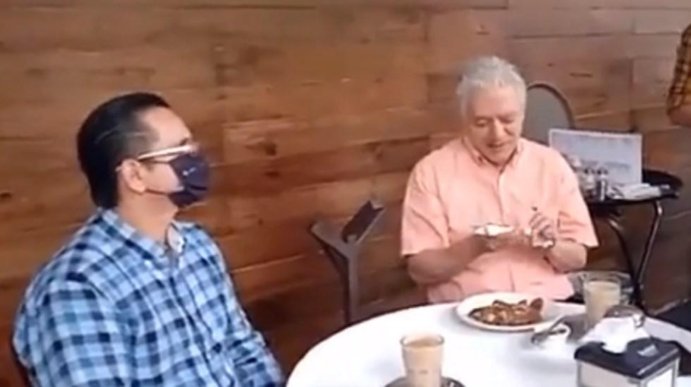 "#Video ""Voy a desayunar, váyanse"", alcalde de Xalapa 'corre' a periodistas - Alcalde Xalapa corre a periodistas"