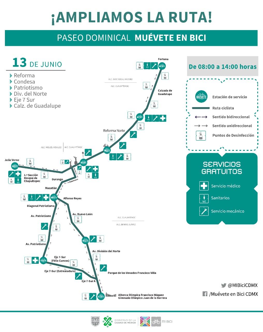 Ampliacion ruta Paseo Dominical Muévete en Bici 10jun21