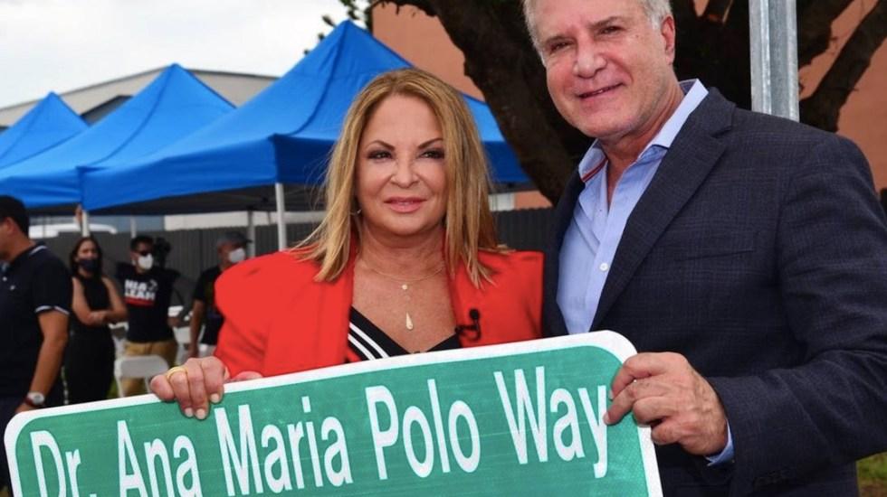 Dedican calle en Florida a Ana María Polo, conductora de 'Caso Cerrado' - Dedican calle en Florida a Ana María Polo, conductora de 'Caso Cerrado' Foto de New Herald