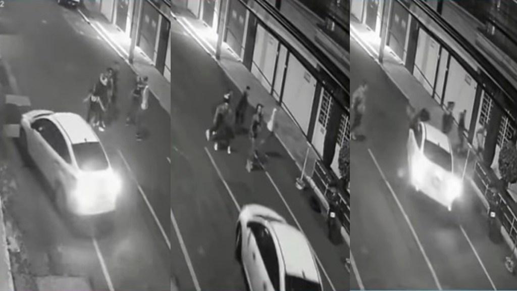 #Video Sujeto atropella a jóvenes que intentaron impedir que manejara ebrio - Atropello de jóvenes en Iztacalco. Captura de pantalla