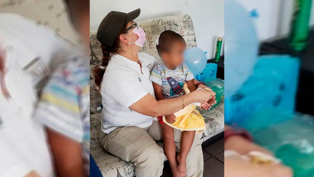Abandonan a bebé en carretera de Veracruz; presumen que viajaba con migrantes - Bebé migrante abandonado en Veracruz. Foto de EFE