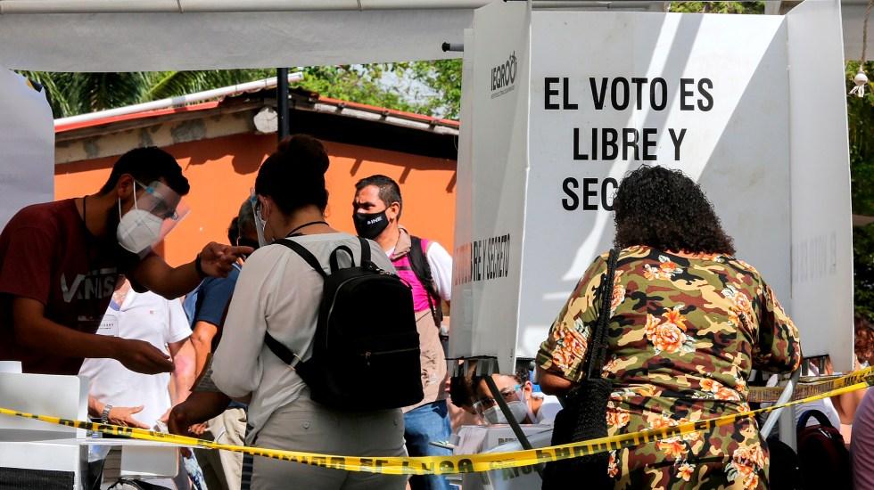 Instaladas, 81.3 por ciento de las casillas electorales: INE - Casilla electoral durante elecciones 2021. Foto de EFE