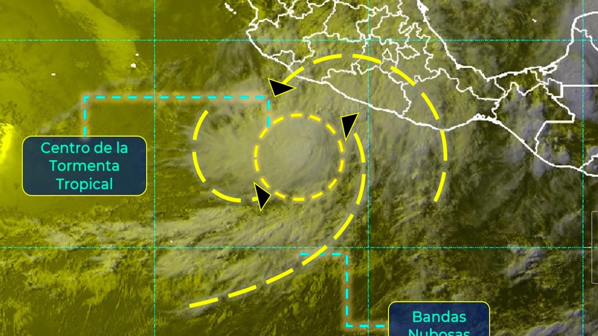 "Tormenta tropical Dolores se encuentra ""muy cercana"" a costas mexicanas"