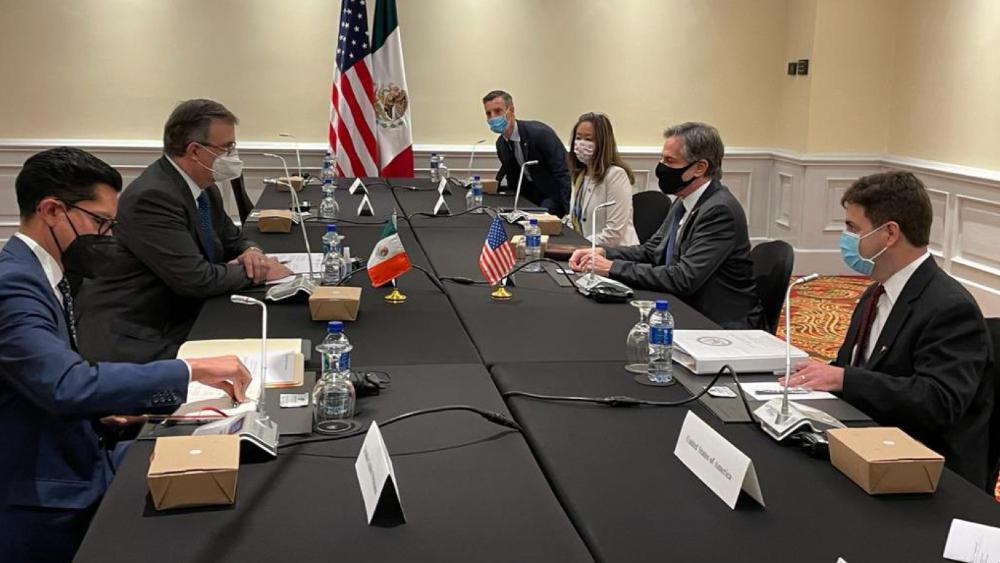 Se reúnen Ebrard y Blinken en Costa Rica; migración es tema principal - Ebrard Blinken México EEUU reunión