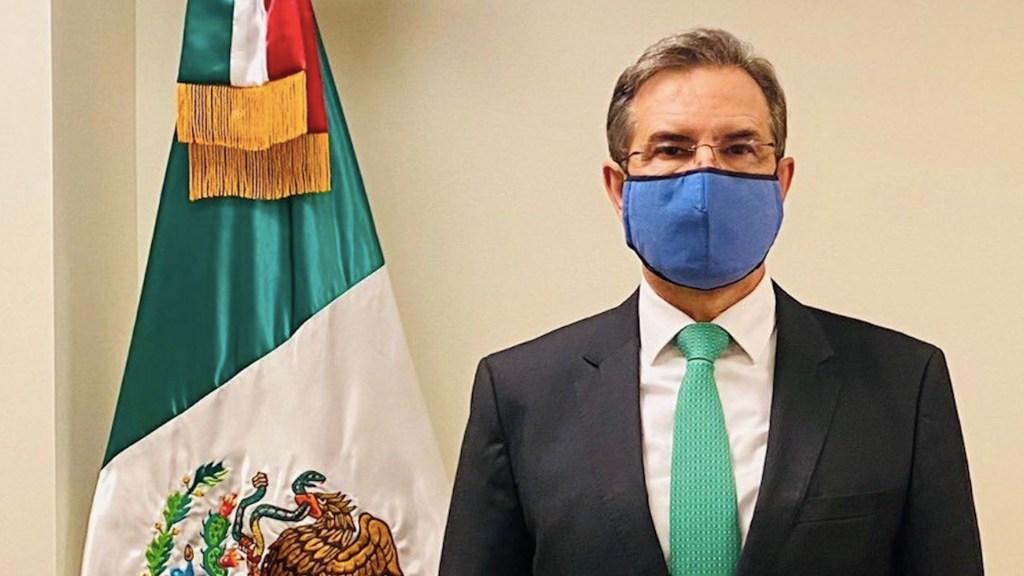 Esteban Moctezuma Barragán se reunirá con Samuel García y Alfonso Durazo en Washington. Foto de Twitter @emoctezumab
