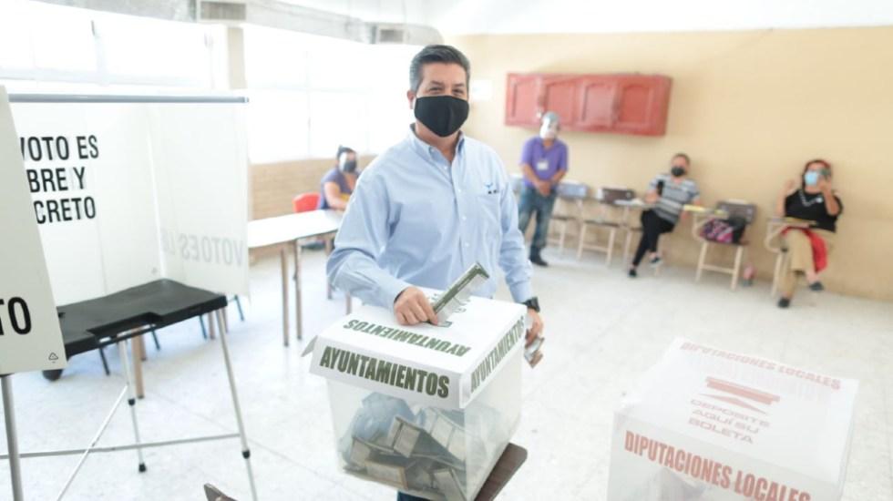 Gobernador García Cabeza de Vaca vota en Reynosa, Tamaulipas - Francisco García Cabeza de Vaca Tamaulipas voto elecciones 2021