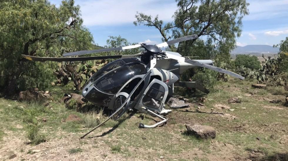 Se desploma helicóptero de la Fuerza Aérea en límites del Edomex e Hidalgo; no se reportan lesionados - Fuerza Aérea Mexicana helicóptero Temascalapa Edomex