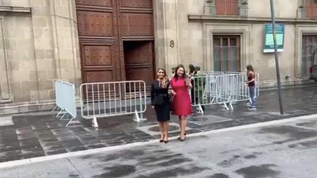 Llegan a Palacio Nacional gobernadores electos de Morena para reunión con López Obrador - Llegan a Palacio Nacional gobernadores electos de Morena para reunión con López Obrador. Foto tomada de video
