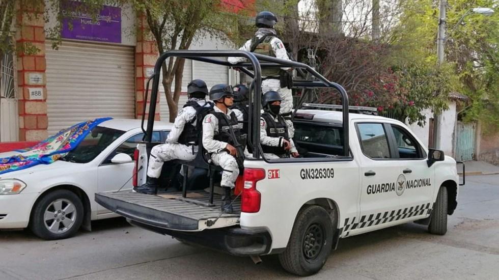 Guardia Nacional vigilará las elecciones del 6 de junio - Guardia Nacional en recorrido por calles de Michoacán. Foto de SSPC