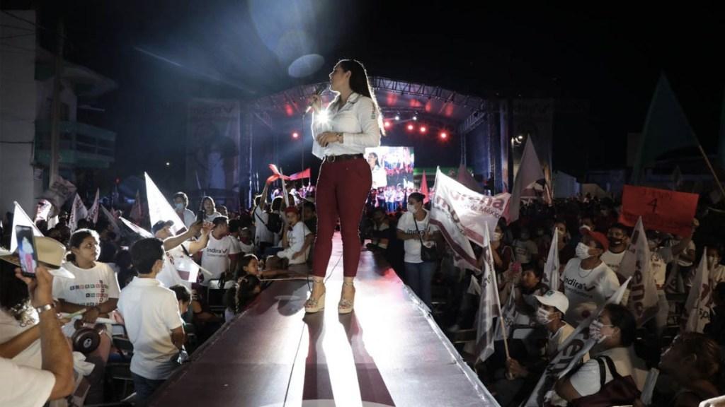 Indira Vizcaíno con ventaja por gubernatura de Colima - Indira Vizcaino