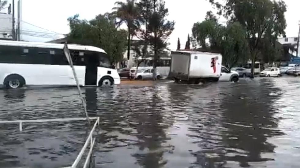 Línea A del Metro sin servicio desde Peñón Viejo a La Paz por inundaciones - Inundaciones Los Reyes edomex Zona Metropolitana Línea A