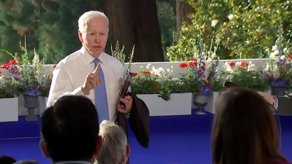 "#Video ""Si no lo entiendes estás en la profesión incorrecta"", Biden estalla contra reportera - Joe Biden Putin reunión"