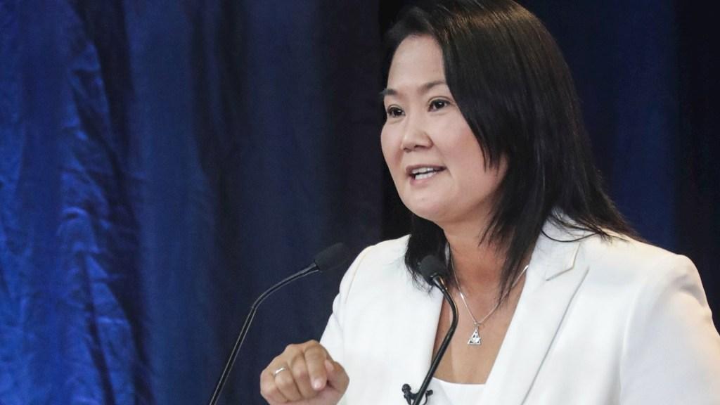 Keiko Fujimori jura preservar la democracia en Perú acompañada por Vargas Llosa y Leopoldo López - Keiko Fujimori