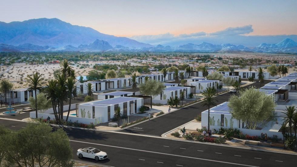 México tiene potencial para creación de 13 ciudades inteligentes - La empresa Mighty Buildings muestra un modelo del vecindario que planea construir con casas impresas en 3D. La primera comunidad de viviendas impresas en 3D de todo el mundo será una realidad en California a partir de mediados de 2022. Un total de 15 casas ecológicas formarán este vecindario