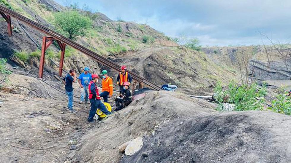 Localizados los siete mineros atrapados en Coahuila; recuperan quinto cuerpo - Recuperan quinto cuerpo de mineros atrapados en Múzquiz, Coahuila. Foto de CNPC