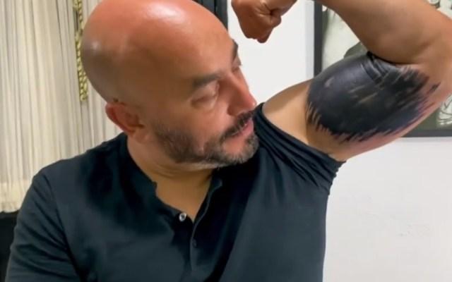 Lupillo Rivera responde a críticas por tapar tatuaje de Belinda - Lupillo Rivera tatuaje Belinda 2