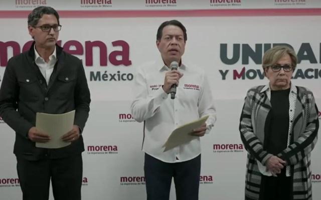 Mario Delgado denuncia ante FGR amenazas sufridas en Tamaulipas - Mario Delgado durante conferencia sobre denuncia ante FGR. Captura de pantalla