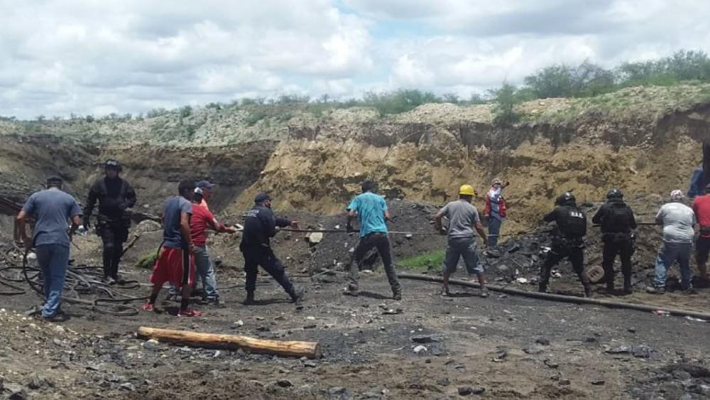GN, Sedena CNPC y STPS participan en rescate de mineros en Coahuila