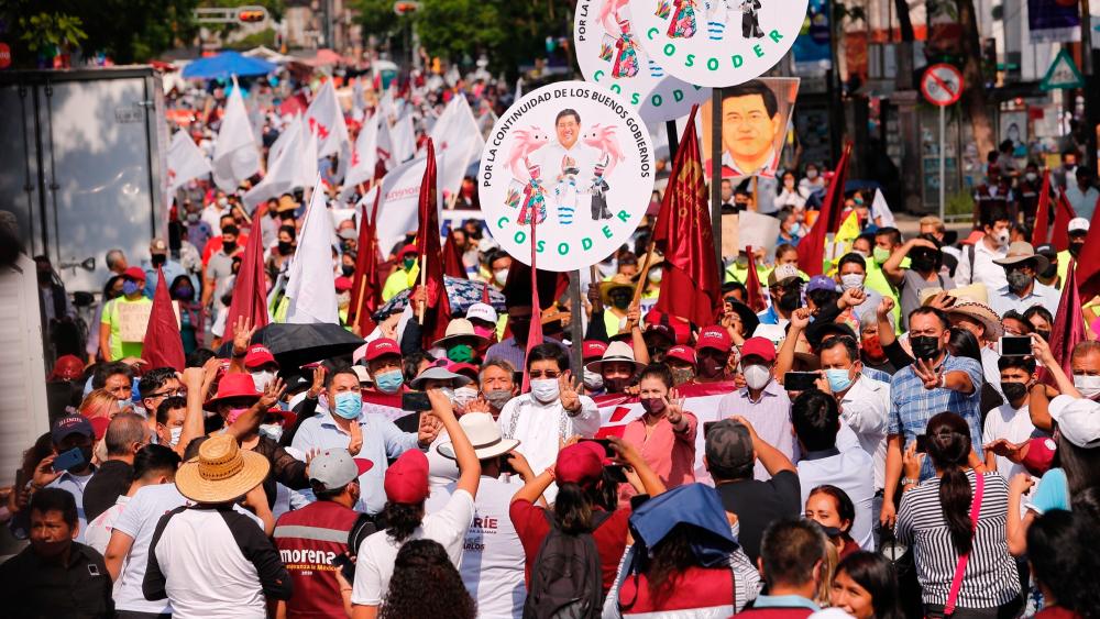 Morena pierde 45 de 100 alcaldías pese a programas sociales - Morena Cuarta Transformación mitin alcaldías
