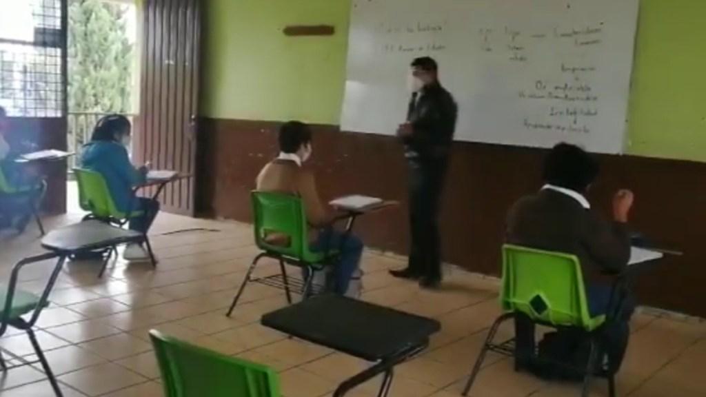 """Alumnos """"dejan plantados"""" a maestros del Edomex en regreso a clases presenciales - Regreso a clases presenciales en Edomex. Captura de pantalla / Milenio"""
