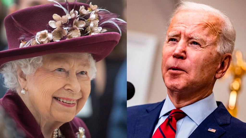 Reina Isabel II recibirá a Biden en el castillo de Windsor el 13 de junio - Reina Isabel II y Joe Biden. Foto de Royal Family y EFE