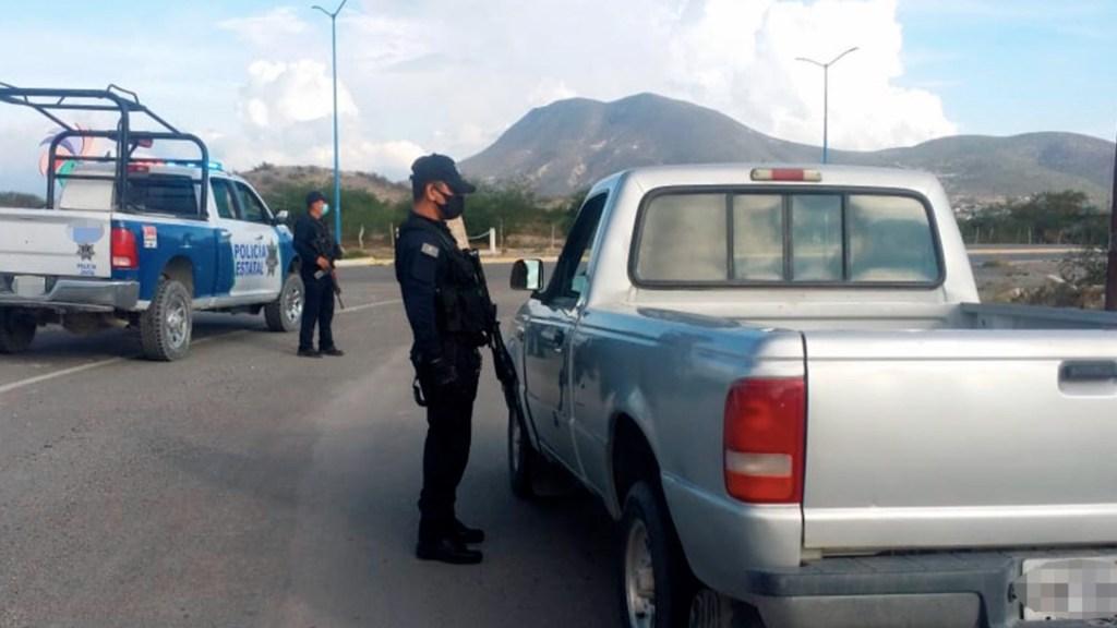 Refuerzan seguridad en la carretera Monterrey-Nuevo Laredo, una de las más peligrosas del país. Foto de Seguridad Tamaulipas