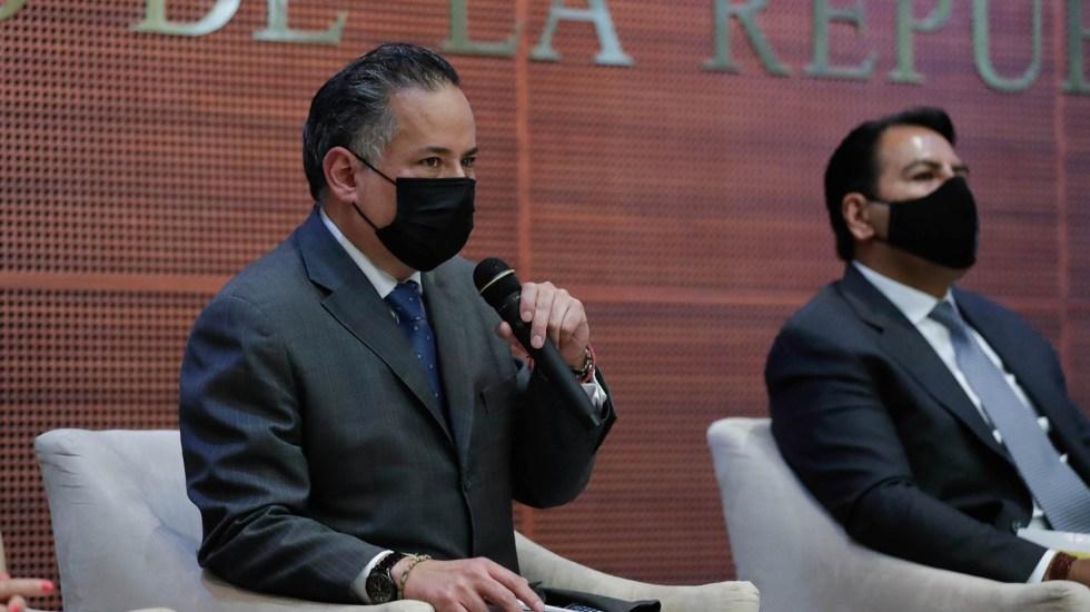 UIF detecta uso de empresas fachada durante campañas electorales - Santiago Nieto en la presentación del libro 'Ley General en Materia de Delitos Electorales. Comentada'. Foto de Senado de la República