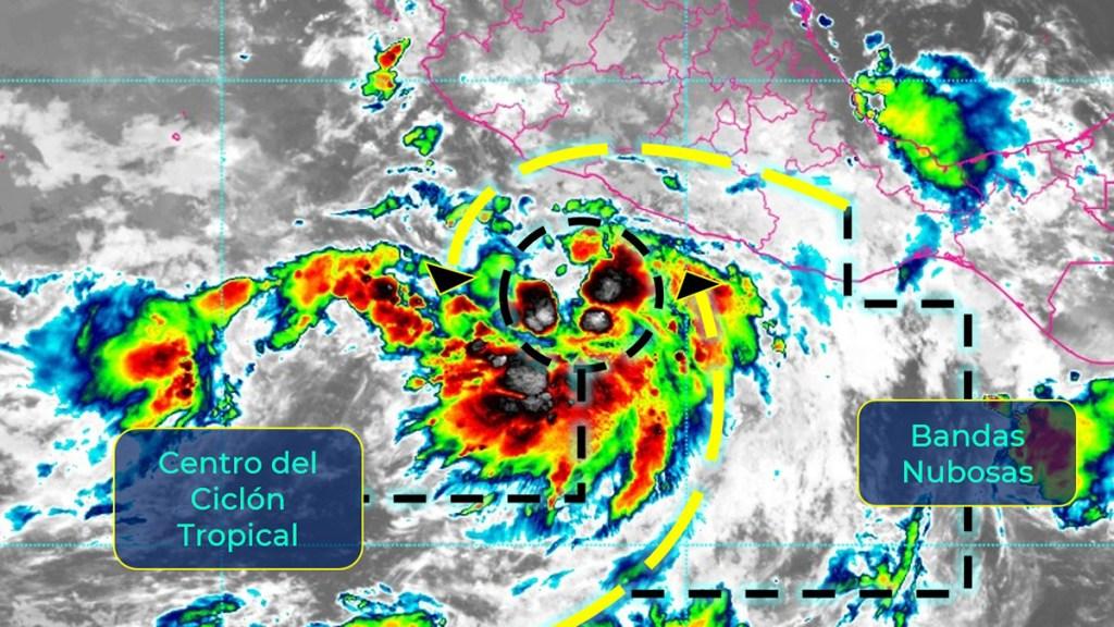 Tormenta tropical Enrique provocará lluvias en cuatro estados; podría volverse huracán - Tormenta tropical Enrique. Foto de SMN