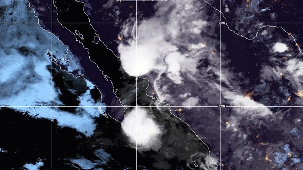 Tormenta tropical Enrique deja lluvias a punto de tocar Baja California Sur - Tormenta tropical Enrique. Foto de NOAA / GOES
