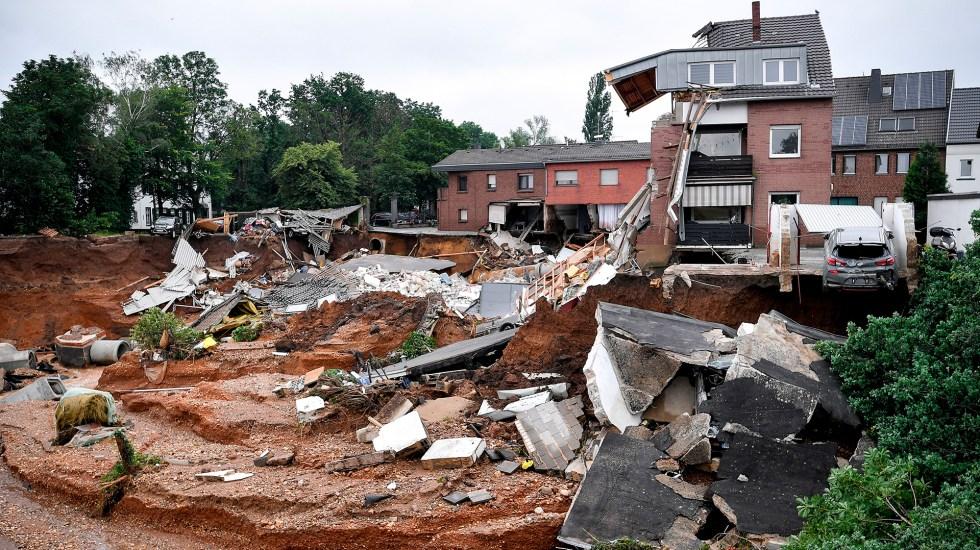 Fuertes lluvias e inundaciones dejan decenas de muertos en Europa y graves daños - Afectaciones en Alemania por lluvias e inundaciones. Foto de EFE