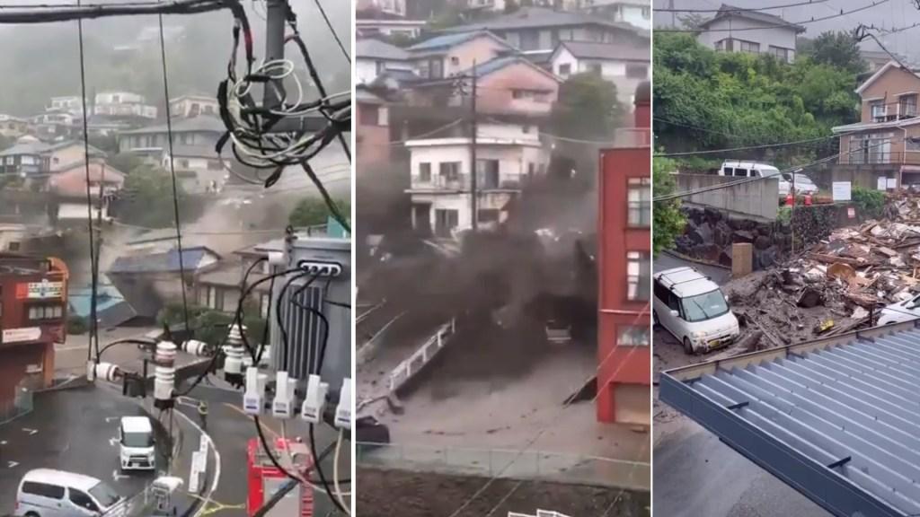 Suman cuatro muertos por alud en Japón; autoridades buscan a desaparecidos - Alud Japón tormenta lluvias