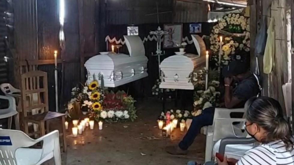 Sepultan a jóvenes que murieron en fuego cruzado en Veracruz - Amatlán jóvenes asesinados Veracruz fuego cruzado