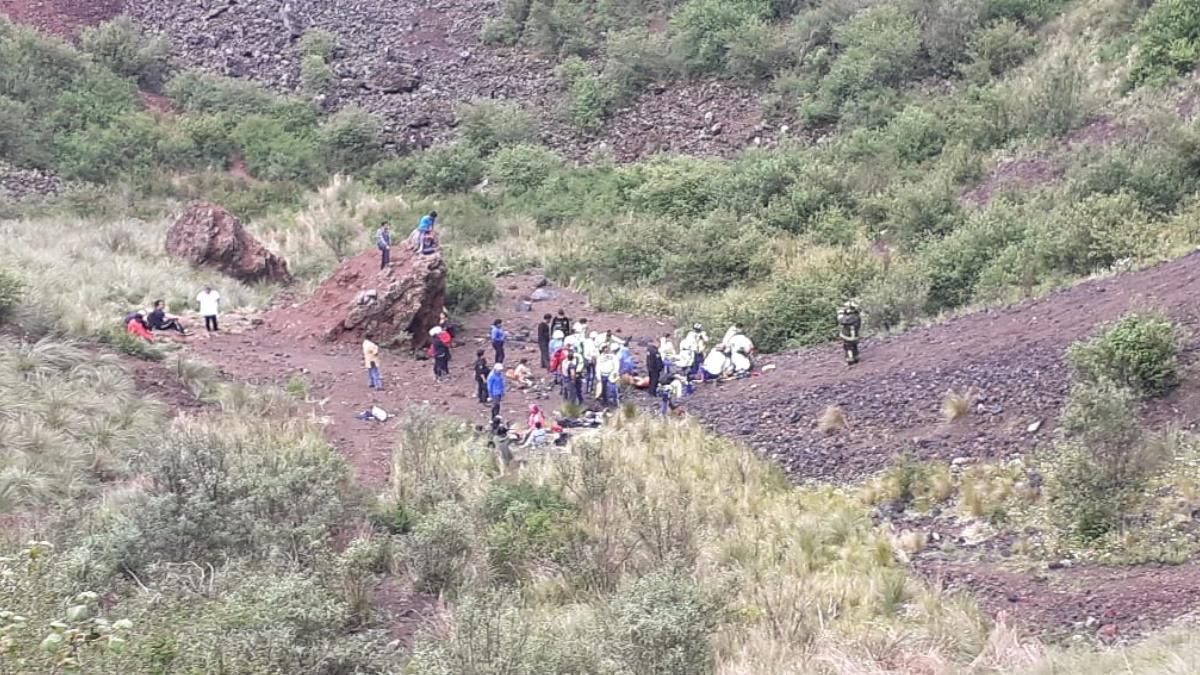 Murió mujer que cayó al cráter del volcán Xitle, en Tlalpan