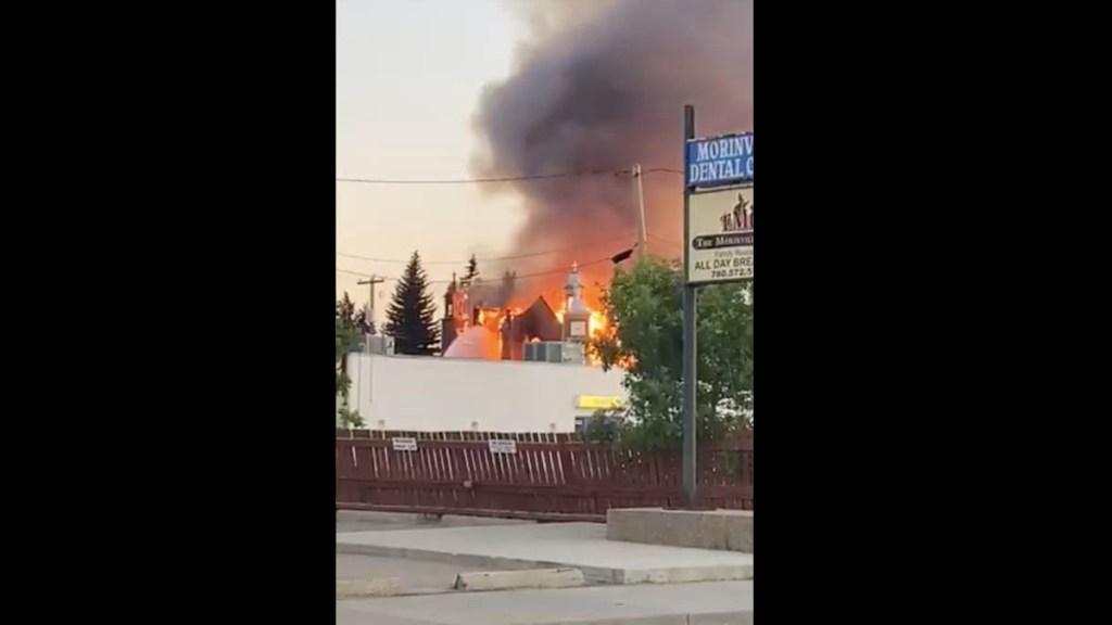 Ola de ataques contra iglesias en Canadá; Trudeau condena violencia - Captura de pantalla