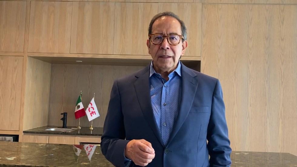 CCE pide al Gobierno Federal impulsar inversión e infraestructura - Carlos Salazar Lomelín. Captura de pantalla / CCE