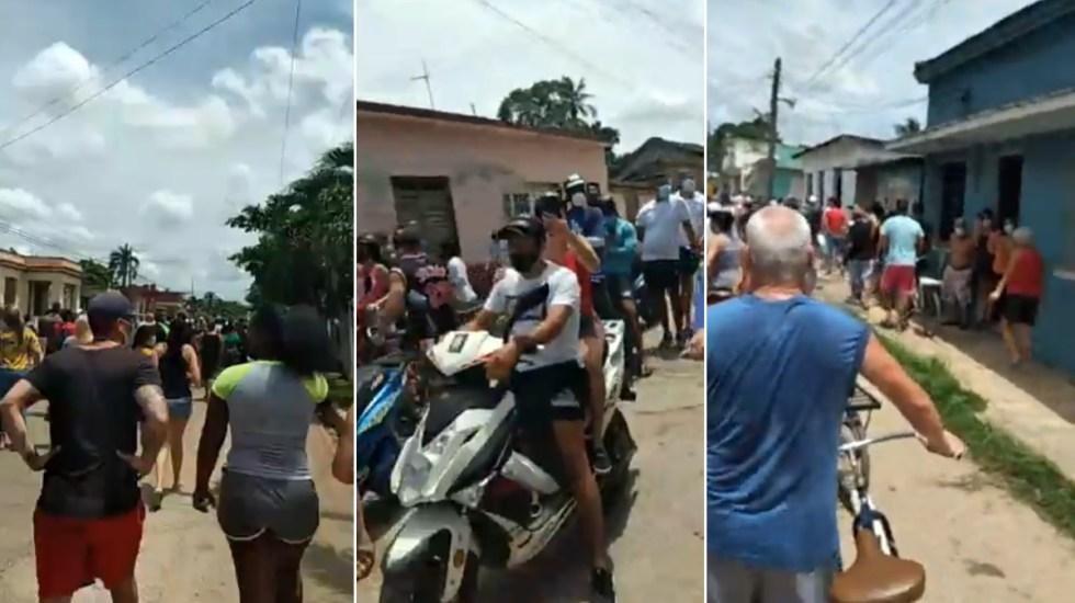 Cientos en Cuba protestan contra el Gobierno - Cuba protesta manifestación calles