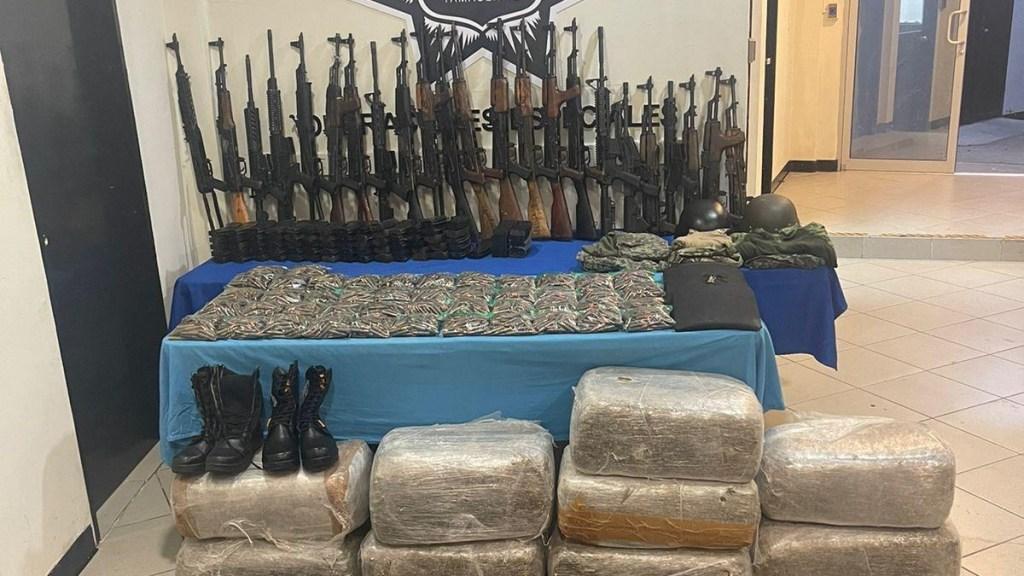 Decomisan en región de la Frontera Chica de Tamaulipas arsenal y drogas - Decomiso Tamaulipas droga armas balas
